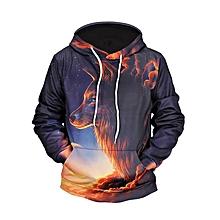 733595854902 Hip-Hop 3D Wolf Hoodie Shirt Pullovers Men  039 S Handsome Hoodie