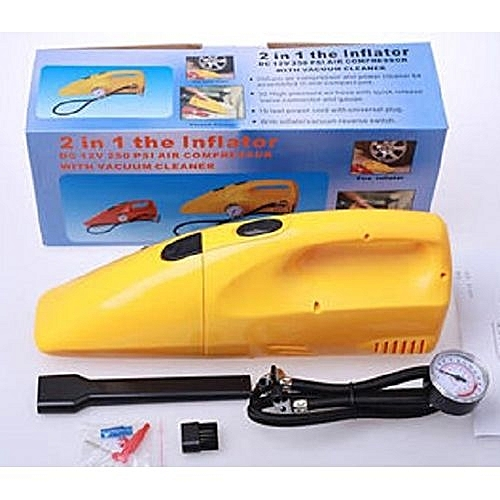 Car Vacuum Cleaner With Tire Inflator And Air Compressor -