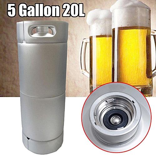 5 Gallon 20L 1/6 Barrel Keg Stainless Steel Homebrew Wine Beer Cider Soda Making