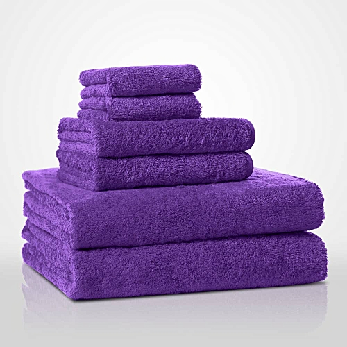 Pure 100% Cotton 6 Pieces Body Towels