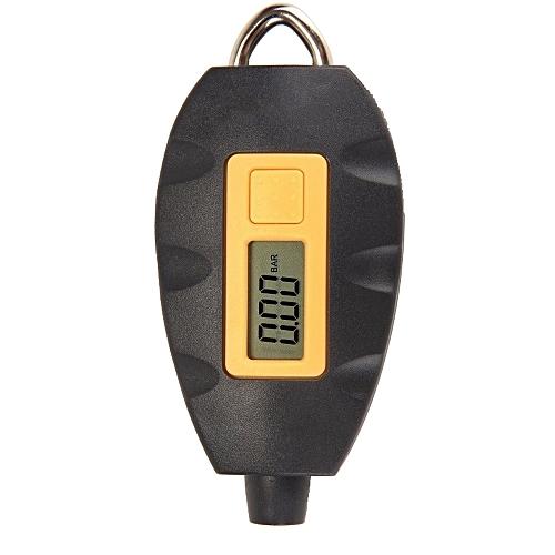 Key Ring Universal Portable LCD Digital Electric Multifunctional Vehicle Tyre Pressure Tester Tire Gauge