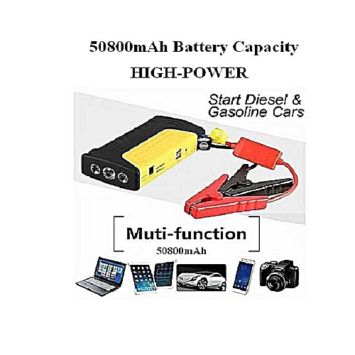 JUMP STARTER KIT And POWER BANK For Laptop & Mobile Devices - Emergency Car Battery 50800mAh 12V ULTRASAFE LITHIUM - Torch Light- MULTI FUNCTION - HIGH BOOST PLUS