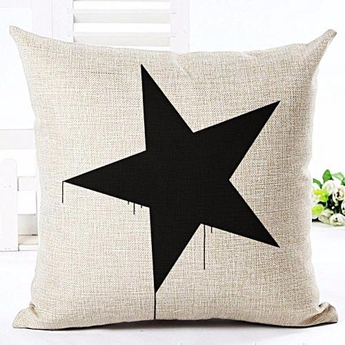 Various Style Pillows Cushion For Home Sofa Car Office Star Panda Printed Cotton Linen Pillowcase