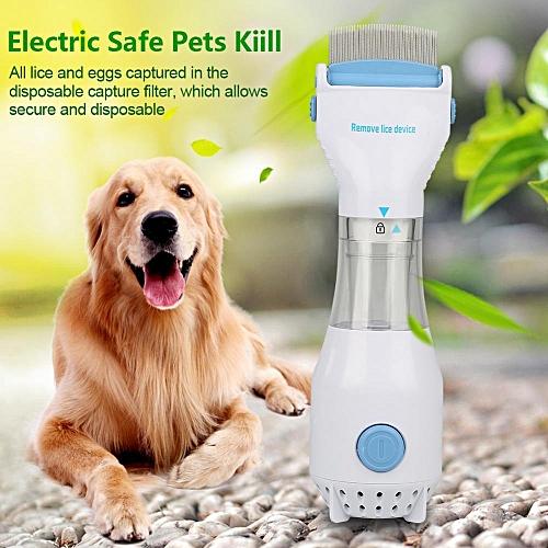 Electric Flea Comb Puppies Fleas Treatment Safe Pets Kill For Dogs Cats EU 220 V