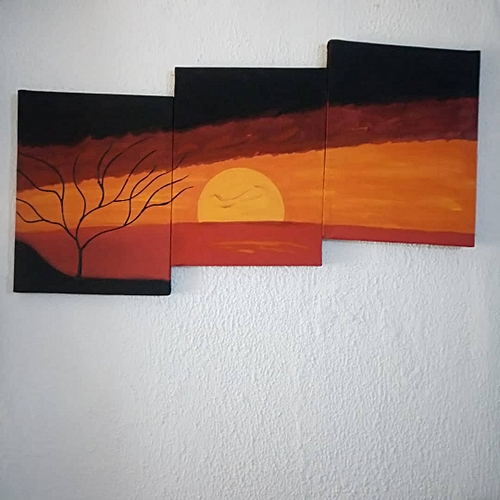 Safari Sunset Artwork