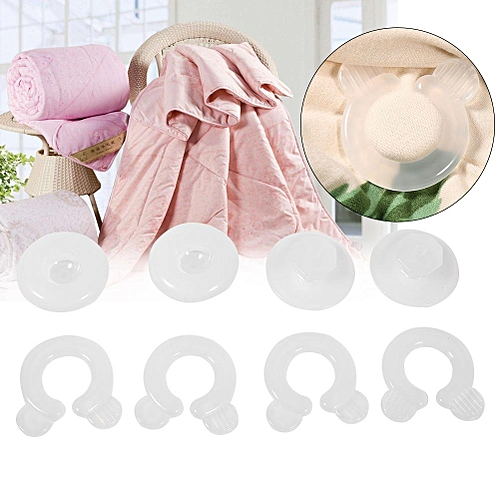 4Pcs Plastic Bed Duvet Quilt Cover Clips Fasteners Gripper