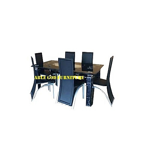 Exquisite Glass Dinning With 6 Chairs