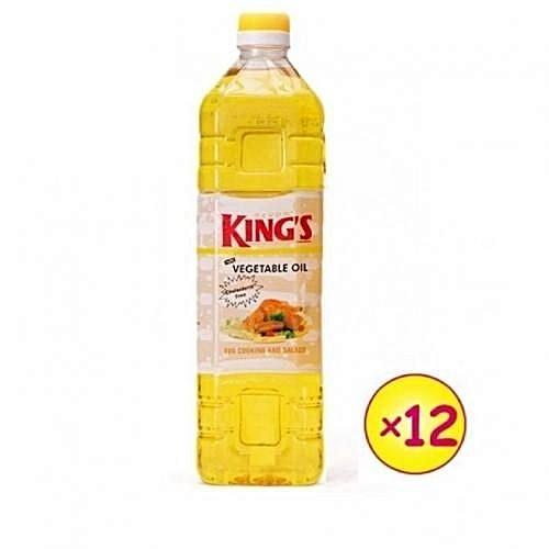 DEVON KING'S Vegetable Cooking Oil - 1 Litre X 12 (1 Carton)