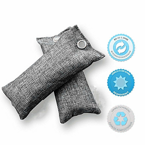 6pcs Natural Air Purifying Bags Mini Bamboo Charcoal Bags Deodorizer Odor Eliminat
