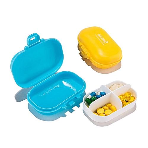 Honana HN-PB011 4 Compartments Pill Organizer Portable Travel Pill Case Daily Medicine Box