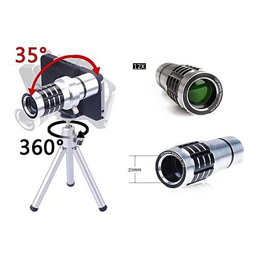 12X Universal Long Focus Lens Universal Mobile Phones Clip Wide-Angle Telescopes General HD Wide-Angle Telephoto Lens