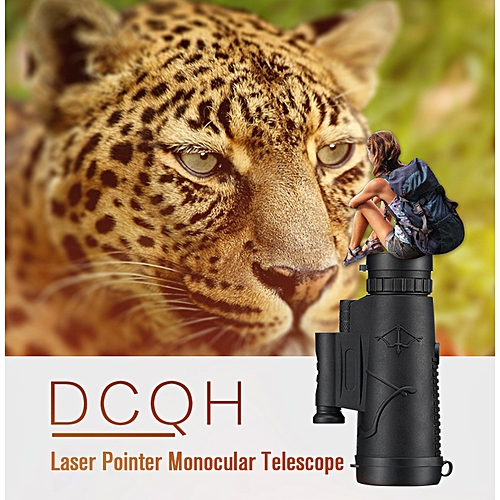 Black 12X HD Zoom Binocular Monocular Powerful Phone Laser Flashlight Telescope With Tripod Clip For Hunting