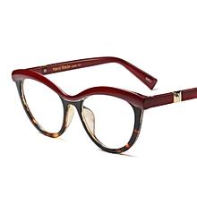 236241b65fc Women Cat Eye Glasses Frames For Women Optical Eyeglasses - Red Leopard