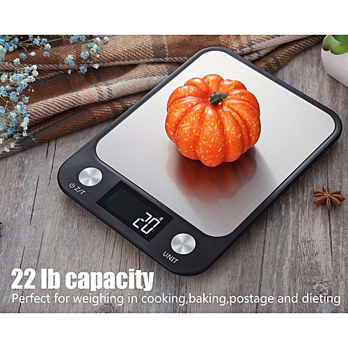 XLIN Digital Food Scale, Multifunction Kitchen Scale, 10 Kg/1g,LCD Display,Touch Function Key,Black