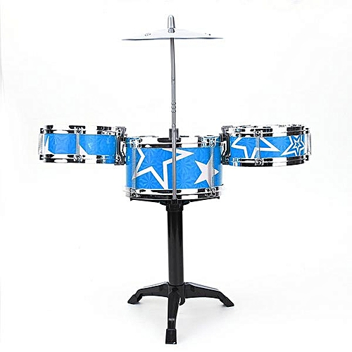 Blue Jazz Drummer Kids Toys Drum Set Drum Percussion Music Sound Play Band