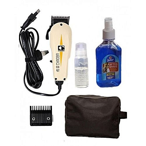 Hair Clipper With Bag & After Shave Set
