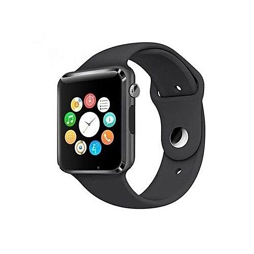 A1 Smart Watch Single Sim GSM, Bluetooth, Memory Card Slot & Camera For Android And IPhone-Black
