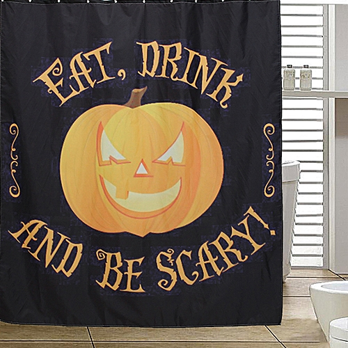 Halloween Xmas 3D Printed Horror Bathroom Shower Curtain Polyester Decoration
