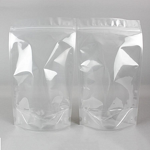 50pcs Transparent Resealable Stand Up Ziplock Food Pouch Packaging