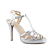 0a67be7d7c21 Ladies Stylish T - Bar Pencil Heel Sandal - Silver