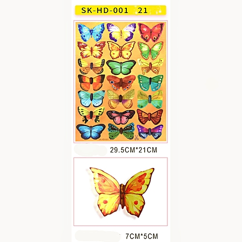 Fovibery Fashion 3D DIY Butterfly PVC Art Decal Home Decor Kids Room Wall Mural Stickers
