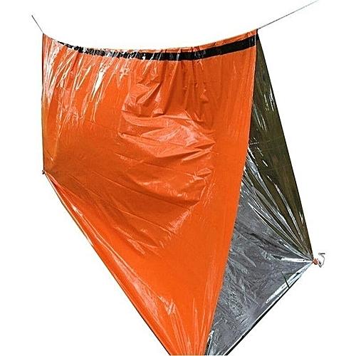 Reusable Emergency Sleeping Bag Survival Camping Travel Bag Waterproof +Whistle