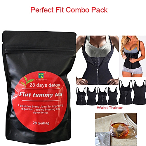 2 In 1 Combo 28 Days Slimming Tea And Shoulder Waist Trainer
