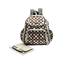 c59e25cbfc7 Multi-functional Mummy Baby Back Pack Diaper Nursing Shoulder Bag With  Changing Mat -Polka