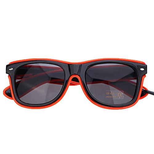 The EL Dazzle Beautiful Shine Nightclub Show Flash Glasses For Party/Halloween/ Birthdays/Festivals EL Luminous Glasses