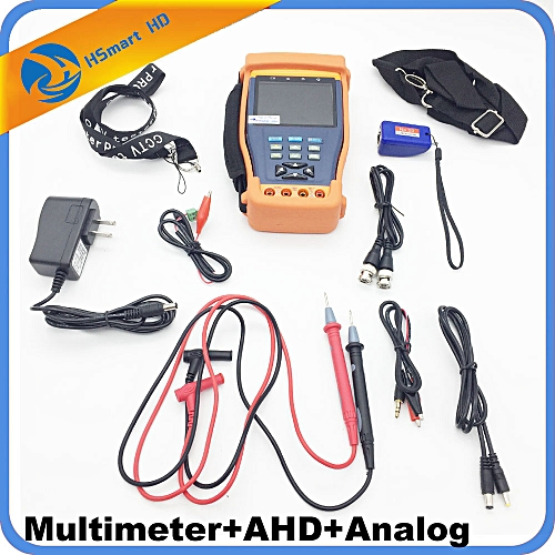 """New CCTV 3.5"""" Two In One HD AHD Tester CCTV Multimeter Tester AHD 1080P And Analog Camera Testing UTP Cable Test 12V1A"""