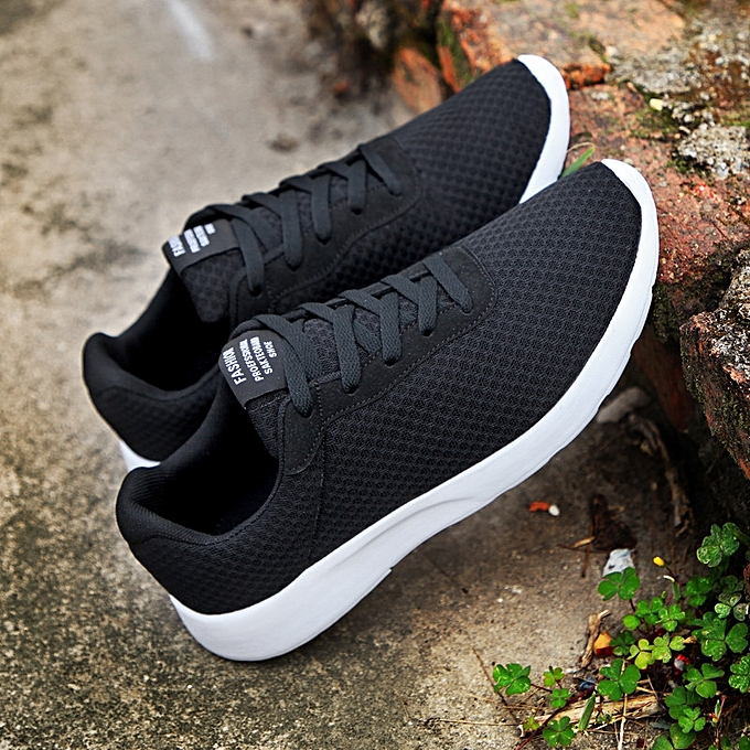 55ee36245be FLANGESIO Plus Size 35-47 Cool Mens Running Shoes Breathable Mesh Outdoor Sports  Sneakers For Men Shoes Black