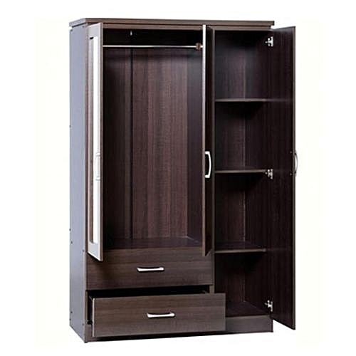 3 Doors Wardrobe '+ FREE OTTOMAN'(Delivery Only In Lagos)