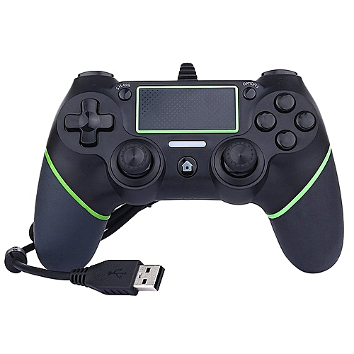 USB Wired Game Controller For Sony PlayStation 4 Joystick Gamepad Green&black