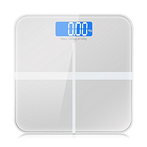 GASON A1 LCD Household Electronic Digital Bathroom Weight Weighing Scale Machine Bath Room Balance Scales Products Tools 180Kg(Silver)
