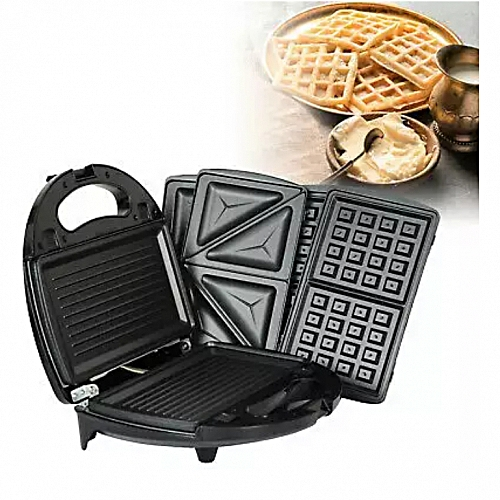 3 In 1 Sandwich Waffle And Grill Toaster