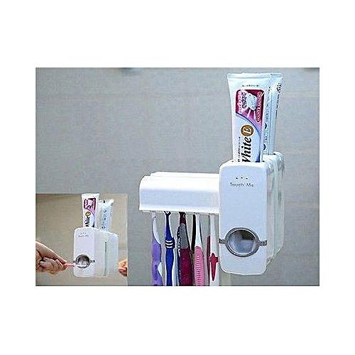 Toothpaste Dispenser & Tooth Brush Holder