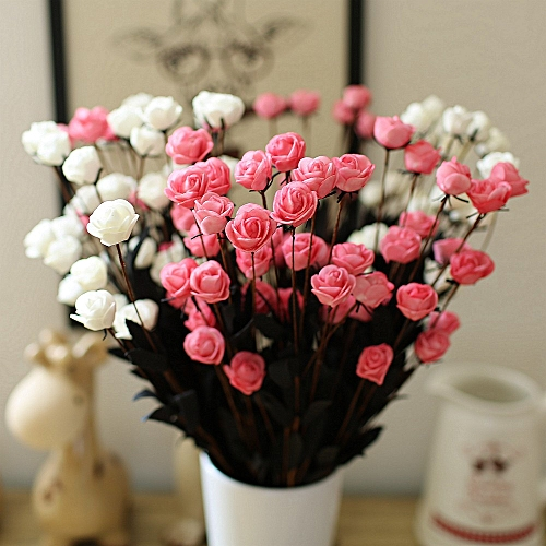 Honana DX-F1 15Pcs Head Fake Rose Bouquets Party Artificial Flowers For Home Wedding Decor