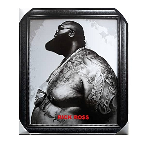 Framed Artwork Of The Grey Picture Of Rick Ross