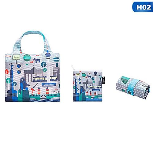 Eco Friendly Shopping Bags Waterproof Travel Custom Reusable Handbag Women Shoulder Cloth Pouch Foldable H02