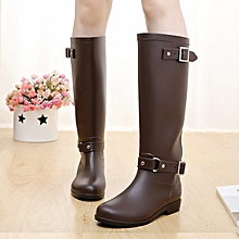 b0fbf2eb0ca Zipper Water Shoes Waterproof Boots Motorcycle Boot-BROWN