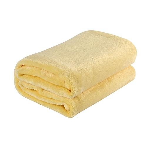 70x100CM Super Soft Keep Warm Flannel Sofa Bedding Office Car Blanket Yellow
