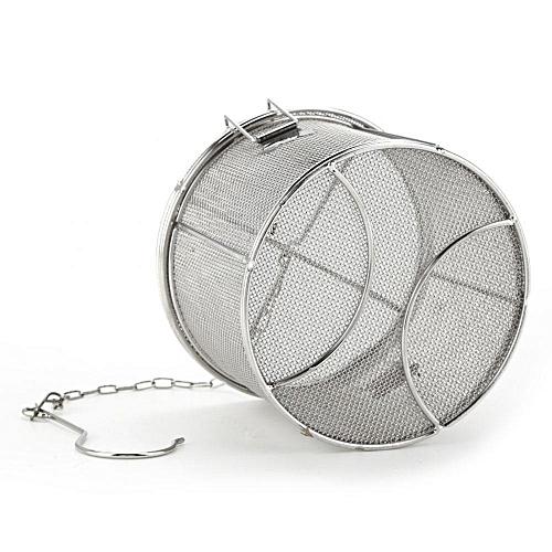 Stainless Steel Tea Ball Strainer Soup Seasonings Seperation Basket Spice Filter 14 X 10cm
