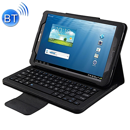 2 In 1 For Samsung Galaxy Tab A 10.1 (2016) T580 / T585 Separable Litchi Texture Horizontal Flip Leather Case + Bluetooth Keyboard With Holder(black)