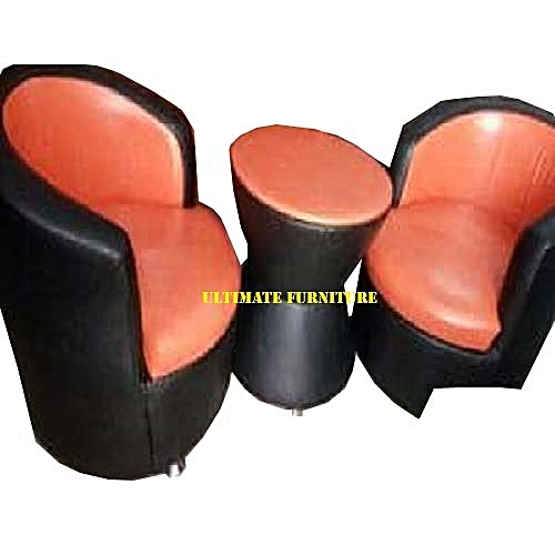 2 Sets Of Leisure Chair And A Small Round Ottoman
