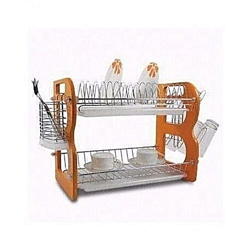Durable Dish Rack With Drainer - 2 Steps..