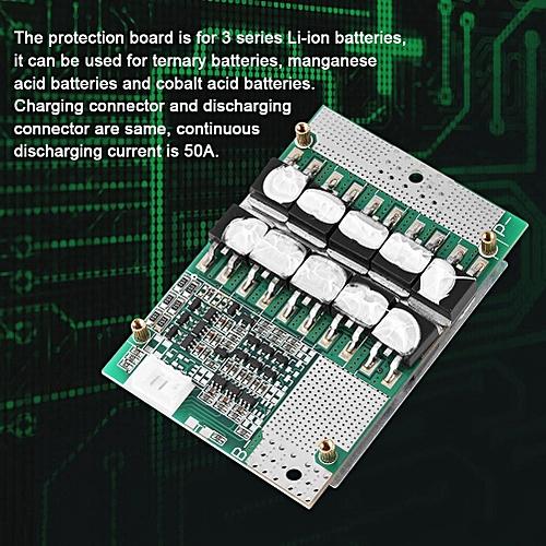 3S 11.1V/12V/12.6V 50A Balance Li-ion 18650 Battery BMS PCB Protection Board With Balance
