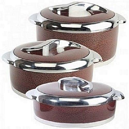 Food Warmer Casserole Set - 3 Pcs Multicolur