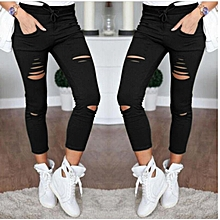 436216c442dc36 Suitable Fashion Womens Stretch Ripped Jeans Ladies Slim Fit Skinny Jeans  Trousers Casual Hole Pants Leggings