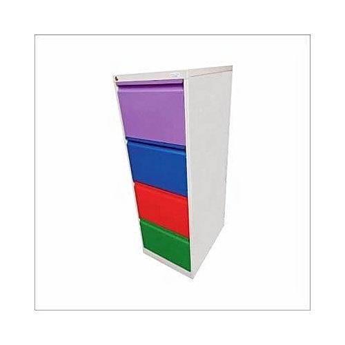Multicolour 4 Drawer Metal Cabinet