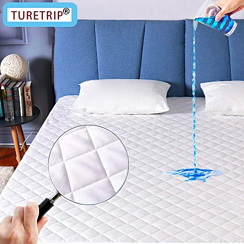 Waterproof Quilted Mattress Cover Topper Washable